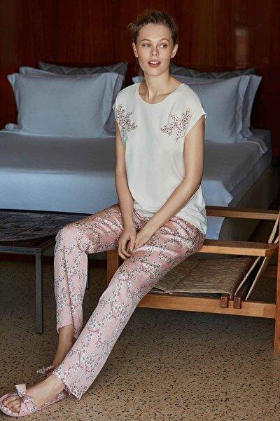 Kadın Bej Pijama Takımı 8505