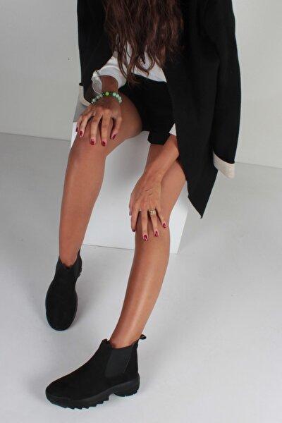 Siyah Süet Kadın Bot KY2040