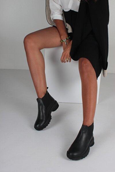 Kadın Siyah Cilt Bot KY2040