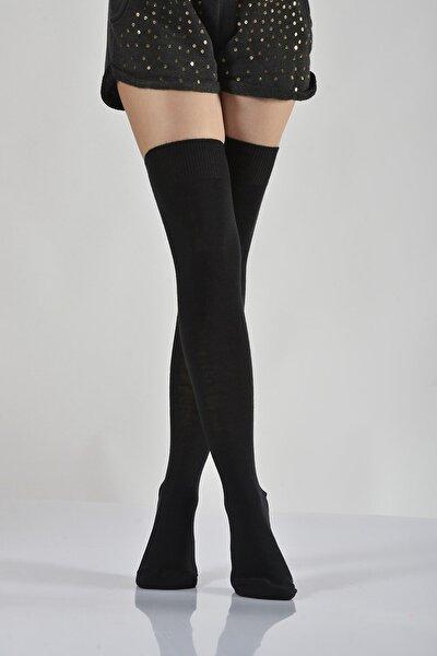 Kadın Siyah Dizüstü Çorap B-ART005