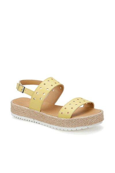 CS19137 Sarı Kadın Sandalet 100382491