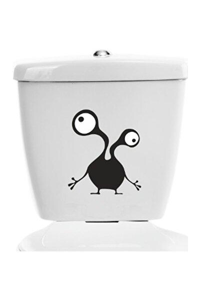 İki Kol İki Göz Canavar Dekoratif Klozet Banyo Sticker