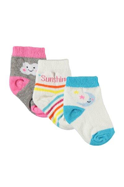 Kız Bebek 3'lü Çorap Set Gri