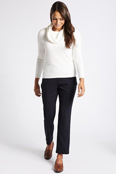Kadın Lacivert Straight Pantolon T59005510C