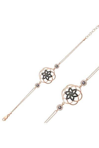 Kadın Gümüş Yaşam Çiçeği Bayan Bileklik BR0460322