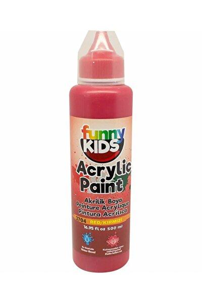 Funny Kids Akrilik Boya 500ml - 2704 Kırmızı