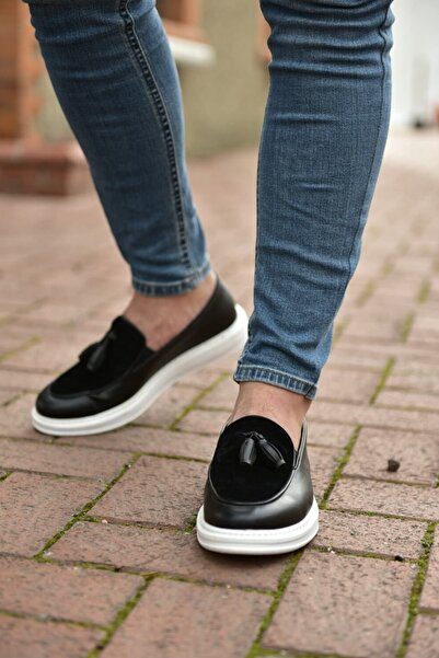 Siyah Beyaz Erkek Spor Ayakkabı CH002