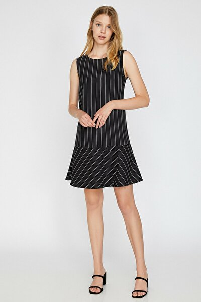 Kadın Siyah Çizgili Elbise 0KAK88910PW