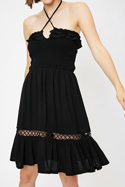 Kadın Siyah Kolsuz Elbise 0KAF80013GW