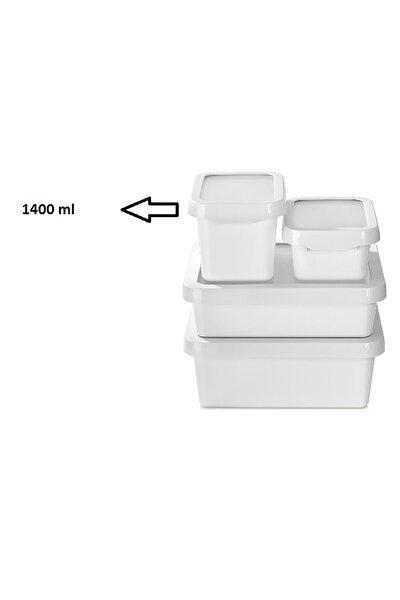 1400 ml Tutku Saklama Kabı - -Beyaz -881123