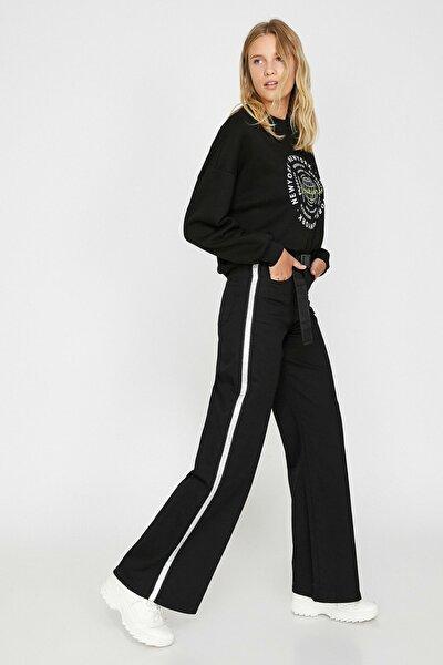 Kadın Siyah Çizgili Pantolon 0KAK43462MW