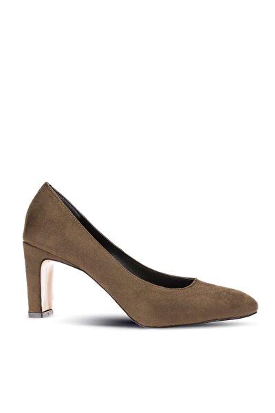 Yeşil Kadın Klasik Topuklu Ayakkabı 05020ZYSLM01