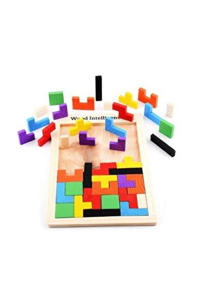 Ahşap Tetris Blok