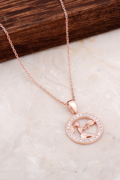 Başak Burcu Rose Gümüş Kolye 6683