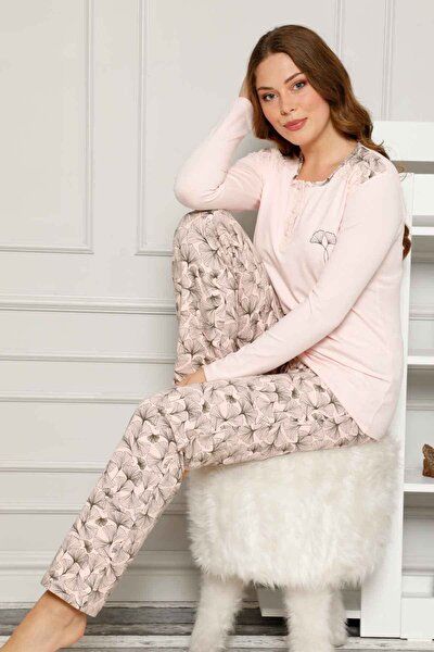 Kadın Somon Pijama Takımı 2539uy