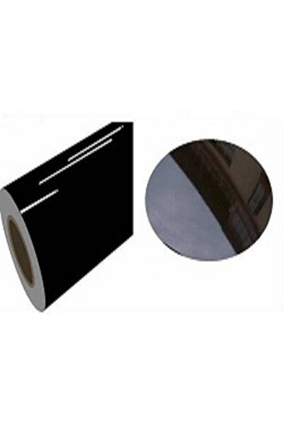 Parlak Siyah Yapışkanlı Folyo  122 Cm  X 3 Mt
