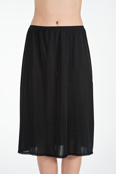 Kadın Siyah Düz Jüpon JP0056101SiYA
