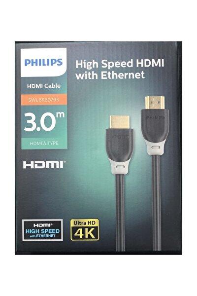 3 Metre HDMI Kablo Altın Uçlu 4K ULTRA Hd Kablo SWL6116D