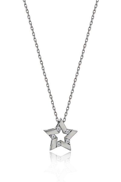 Swarovski Taşlı Yıldız Gümüş Kolye