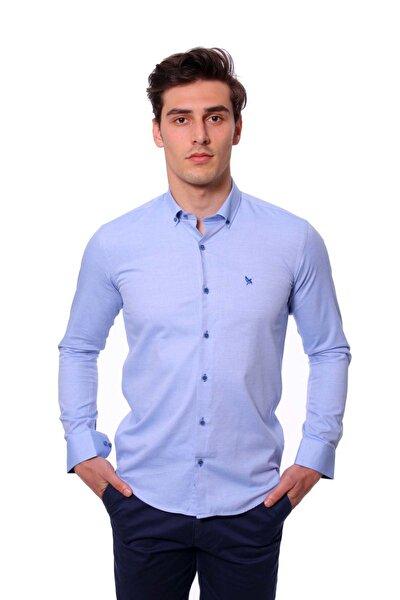 Uzun Kollu Erkek Gömlek Mavi/Blue 1912015