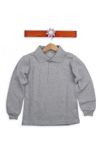 Gri Unisex Çocuk Polo Yaka T-Shirt