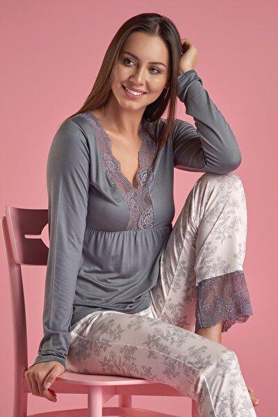 Kadın Haki Pijama Takım