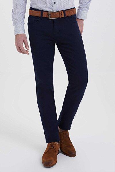 Desenli Slim Fit Lacivert Pantolon 29253019C002