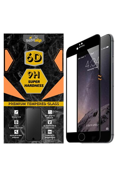 Iphone 8 Plus Uyumlu 9h Temperli 6d Tam Kaplayan Ekran Koruyucu Cam Siyah