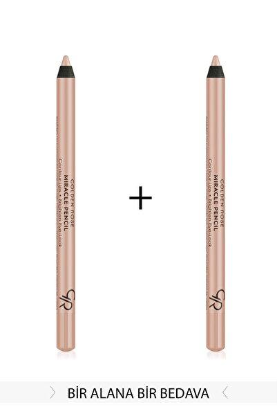 2'li Set Göz&Dudak Aydınlatıcı Kalem - Miracle Pencil Contour Lips Brighten Eye-Look KMIR