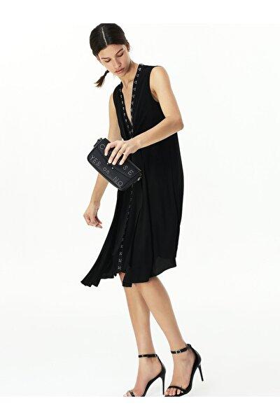 Agraf Şeritli Elbise