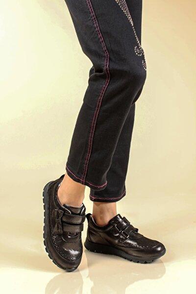 Hakiki Deri Çelik Simli Kız Çocuk Casual Ayakkabı