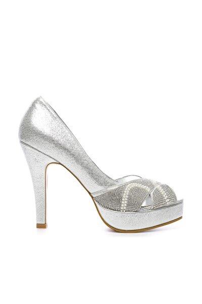 Gri Kadın Vegan Klasik Topuklu Ayakkabı 592 2310 BN AYK
