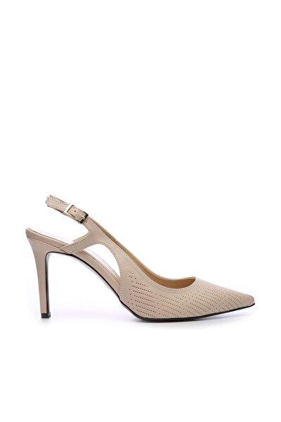 Bej Kadın Vegan Stiletto Ayakkabı 22 6253 BN AYK Y19