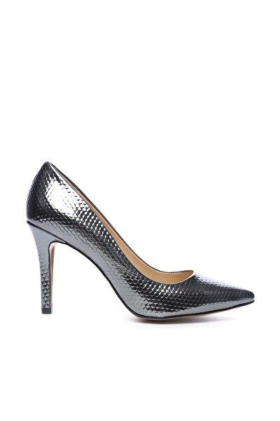 Gri Kadın Vegan Stiletto Ayakkabı 22 967 BN AYK