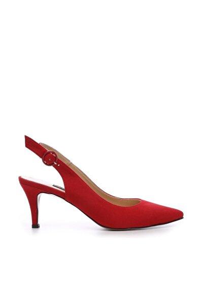 Hakiki Deri Kırmızı Kadın Klasik Topuklu Ayakkabı 22 6295 BN AYK Y19