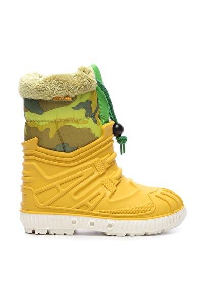 Sarı Çocuk Pvc Yağmur Çizmesi Çizme 104 1602 UNI CZM 24-34