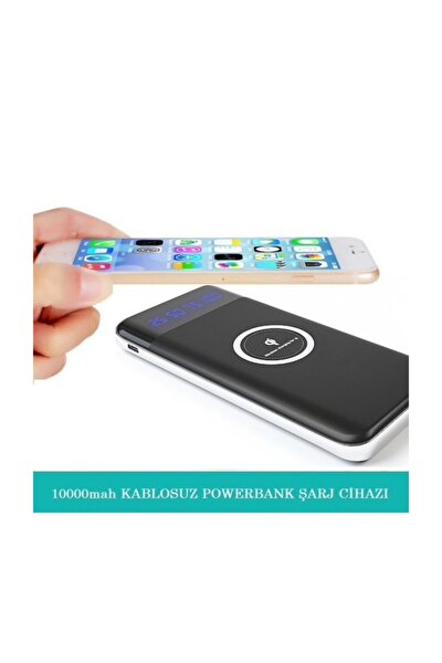 Kablosuz Powerbank Şarj Aleti Wireless Şarj Qi 10000 Mah