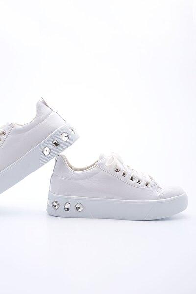 Beyaz Kadın Aporte Sneaker 19Y00RG33001