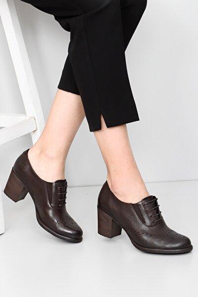 Gön Hakiki Deri Kadın Topuklu Ayakkabı 24040