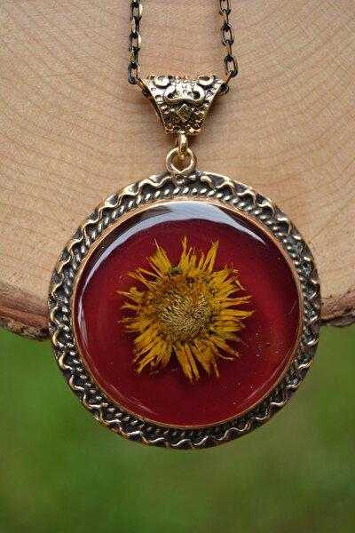 Jewellery Gerçek Çiçek El Yapımı Bayan Kolye