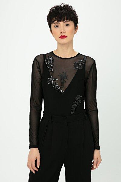 Kadın Siyah Bluz TS1190006113