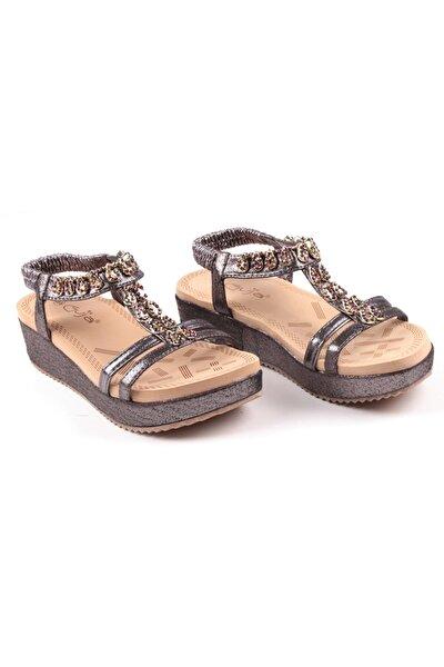 Ortopedik Dolgu Topuk Kadın Sandalet