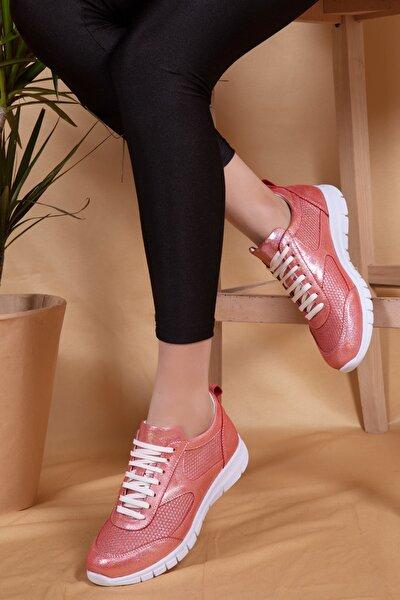 Deri Hafif Taban Spor Ayakkabı