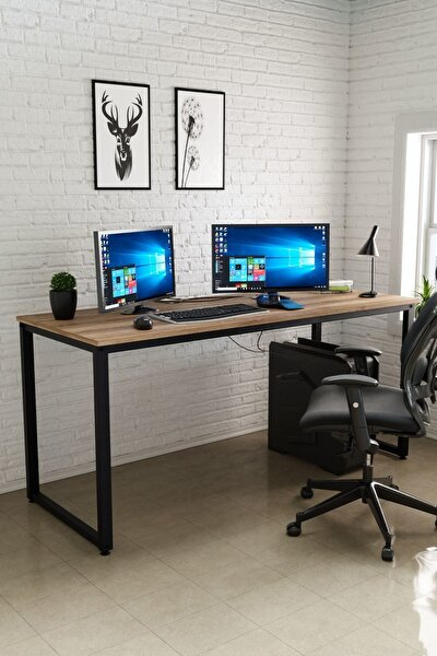 Çalışma Masası, Bilgisayar Masası, Ofis Masası (60x160 Cm, Sakremento)