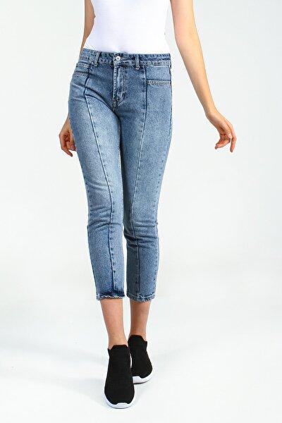 Kadın Mavi Pantolon Puffen UCB021748A22