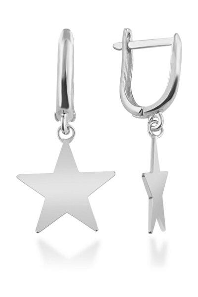 Kadın 925 Ayar Sallantılı Yıldız Gümüş Küpe