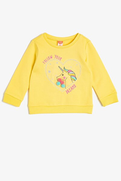 Sarı Kız Bebek Sweatshirt