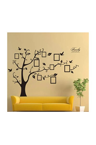 Soy Ağacı Şekilli Fotoğraf Resim Çerçeveli Dev Ev Salon Dekorasyonu