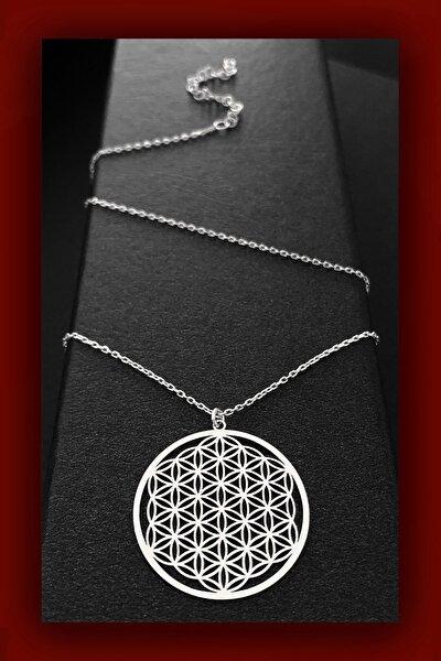 60 Cm Yaşam Çiçeği Kadın Gümüş Kolye