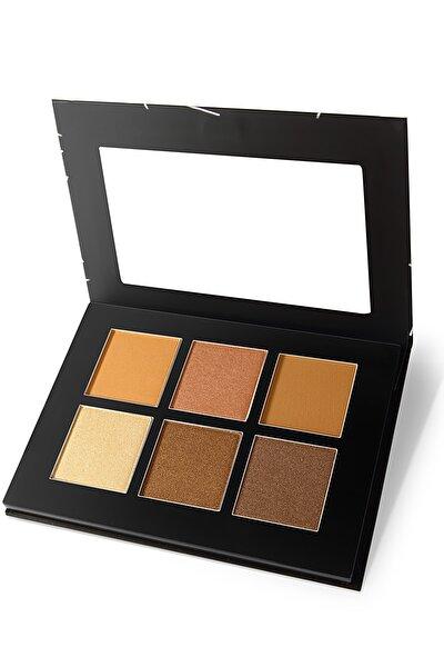 6'lı Aydınlatıcı&Kontür Paleti - Highlighter&Contour Pro 6 Colors Palette 02 Medium 8681702001858